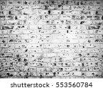 white brick wall. horizontal... | Shutterstock . vector #553560784