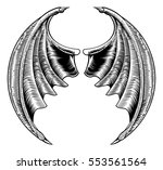 a circular bat demon dragon... | Shutterstock .eps vector #553561564