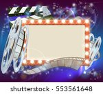 an abstract movie cinema film... | Shutterstock .eps vector #553561648