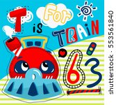 """cute train with text """"t is for... 