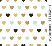 seamless background hearts.... | Shutterstock .eps vector #553562446