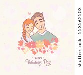 cute and romantic doodle of... | Shutterstock .eps vector #553562503