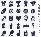3d sports icon collection.... | Shutterstock .eps vector #553573768