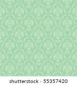 seamless damask wallpaper | Shutterstock .eps vector #55357420