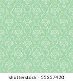 seamless damask wallpaper | Shutterstock .eps vector #55357420