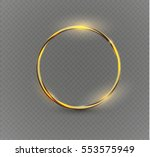abstract luxury golden ring.... | Shutterstock .eps vector #553575949