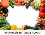fresh vegetables on white... | Shutterstock . vector #553576900