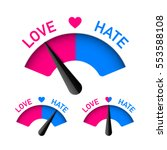 love and hate meter  valentines ... | Shutterstock .eps vector #553588108