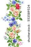 Floral Border  Vertical...