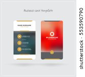 golden and gray vertical... | Shutterstock .eps vector #553590790