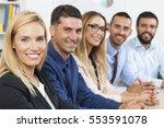 portrait of business group... | Shutterstock . vector #553591078