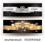 luxury event invitation card... | Shutterstock .eps vector #553593460