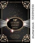 luxury event invitation gold...   Shutterstock .eps vector #553593550
