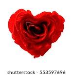 Stock photo rose heart 553597696