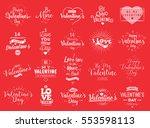 happy valentines day typography ... | Shutterstock .eps vector #553598113