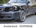 Small Black Car With Damaged...