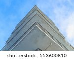 office building with balconies... | Shutterstock . vector #553600810