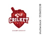cricket team logo | Shutterstock .eps vector #553603138