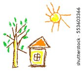wax crayon like kid s hand...   Shutterstock .eps vector #553603366
