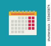 calendar flat icon. vector...   Shutterstock .eps vector #553605874
