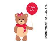 Cute Teddy With Balloon