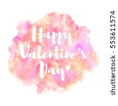 happy valentines day vector... | Shutterstock .eps vector #553611574
