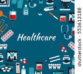 healthcare medical infographic... | Shutterstock .eps vector #553613188
