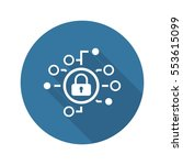 cyber security icon. flat...