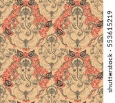 seamless pattern with lord... | Shutterstock . vector #553615219