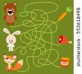 cute animal educational maze... | Shutterstock .eps vector #553618498