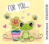 Greeting Card Cute Cartoon Fro...