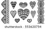 crochet hearts  crafts... | Shutterstock .eps vector #553620754