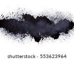 stripe of spilt black paint  ... | Shutterstock . vector #553623964