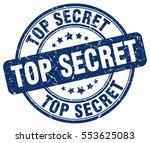 top secret. stamp. blue round... | Shutterstock .eps vector #553625083