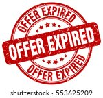 offer expired. stamp. red round ... | Shutterstock .eps vector #553625209