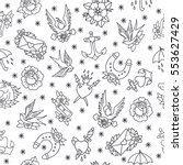 seamless doodle pattern.... | Shutterstock .eps vector #553627429