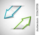 vector arrow banners set.... | Shutterstock .eps vector #553629958