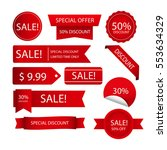 red sale stamps. limited time... | Shutterstock .eps vector #553634329