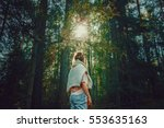 Woman Hiking In Woods  Warm...