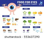 info graphics about foods that... | Shutterstock .eps vector #553637290