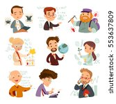 set of cartoon characters... | Shutterstock .eps vector #553637809