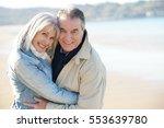 portrait of senior couple... | Shutterstock . vector #553639780