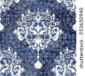 vector illustration. damask... | Shutterstock .eps vector #553650940