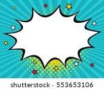 empty dynamic comic speech... | Shutterstock .eps vector #553653106
