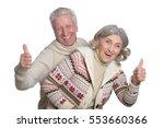 smiling mature couple | Shutterstock . vector #553660366