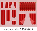 red curtains and draperies...