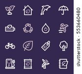 green ecology web icons set | Shutterstock .eps vector #553660480