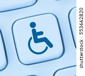 Small photo of Web accessibility online internet website computer people disabilities blue keyboard