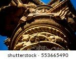 sculpture of hindu gods on... | Shutterstock . vector #553665490