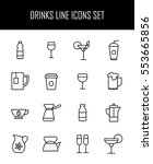 set of drinks icons in modern... | Shutterstock .eps vector #553665856